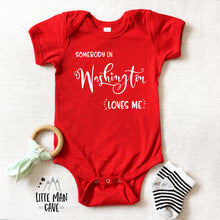 Load image into Gallery viewer, Somebody in Washington loves me shirt, Home State Kids Clothes