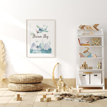 Load image into Gallery viewer, Dream Big Printable Wall Art, Airplanes Nursery Print - Up In The Sky
