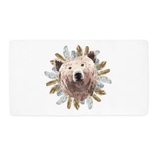 Load image into Gallery viewer, Tribal - BohoGrizzly Bear Face Minky Crib Sheet, Woodland Nursery Bedding