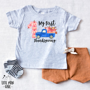 My First Thanksgiving Shirt, Fall Baby Clothes