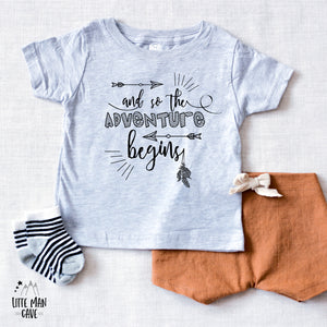 And so the Adventure Begins Baby Clothes, Pregnancy Reveal shirt