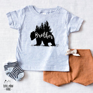 Trees Brother Bear Shirt, Cabin Kids Clothes