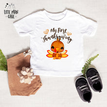 Load image into Gallery viewer, My First Thanksgiving Turkey Bodysuit, Fall Baby Clothes