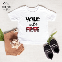 Load image into Gallery viewer, Wild and Free Lumberjack Shirt, Wildlife Kids Clothes