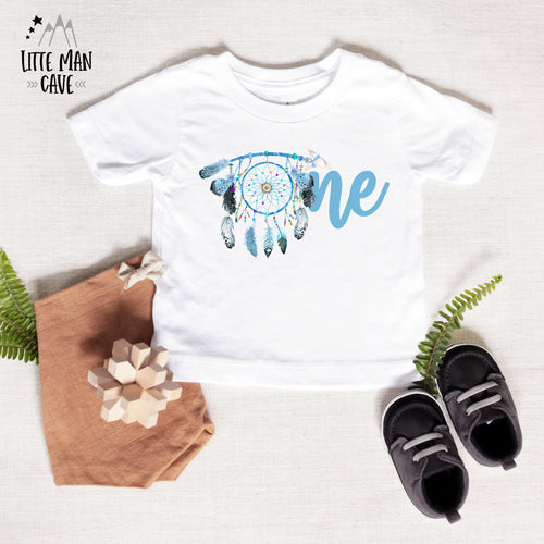 Dreamcatcher One Birthday shirt, Boho Baby Boy Clothes