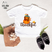 Load image into Gallery viewer, Thankful Shirt, Thanksgiving Kids Clothes