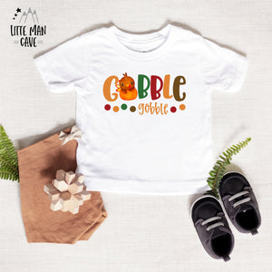 Gobble Gobble Shirt, Thanksgiving Boy Clothes