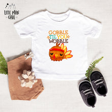 Load image into Gallery viewer, Gobble Til You Wobble Shirt, Fall Kids Clothes