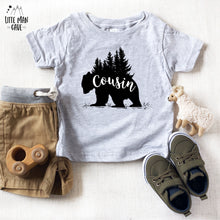 Load image into Gallery viewer, Trees Cousin Bear Shirt, Cabin Kids Clothes