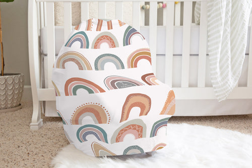Be A Kind Rainbow  Car Seat Cover, Rainbow Nursing Cover