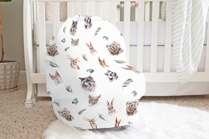 Woodland Car Seat Cover, Forest Nursing Cover - Wild Woodland