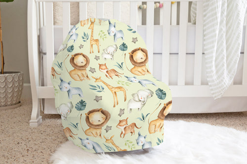 Baby Africa Car Seat Cover, Safari Nursing Cover