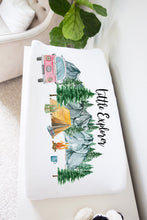 Load image into Gallery viewer, Little Explorer Ref 2 Changing Pad Cover, Camper Nursery Bedding