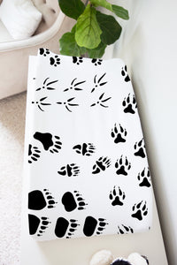 Animal Tracks Changing Pad Cover, Woodland Nursery Decor