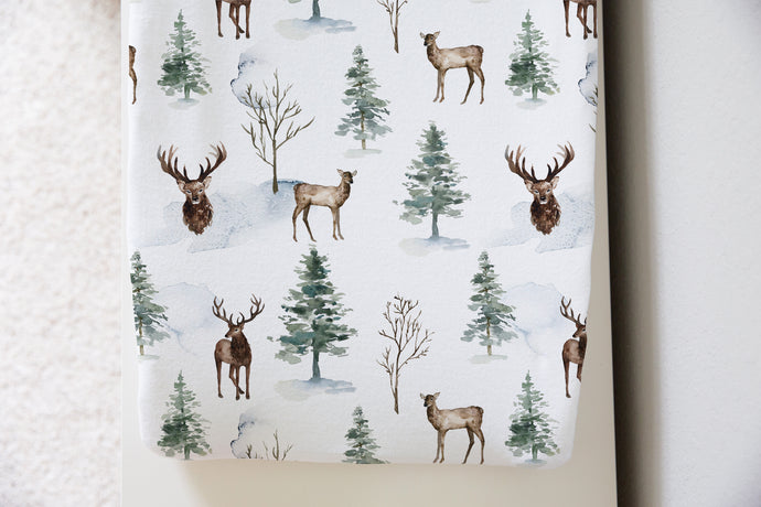 Woodland Changing Pad Cover, Forest Nursery Bedding - Enchanted Forest