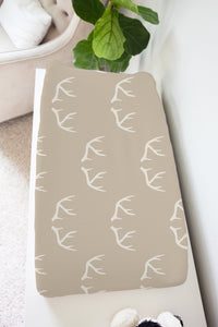 Antlers Changing Pad Cover, Rustic Baby Bedding