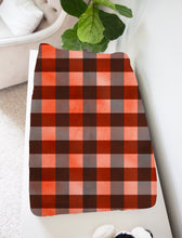 Load image into Gallery viewer, Jack Red Buffalo Plaid Changing Pad Cover, Lumberjack Nursery Decor
