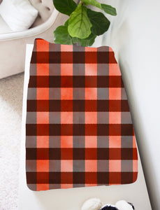Jack Red Buffalo Plaid Changing Pad Cover, Lumberjack Nursery Decor