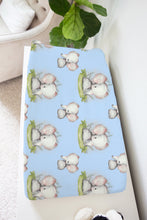 Load image into Gallery viewer, Peanut Changing Pad Cover, Elephant Nursery Bedding