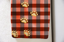 Load image into Gallery viewer, Jack Bear Foot Plaid Changing Pad Cover, Lumberjack Nursery Decor