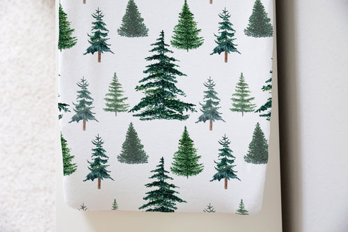 Pine Trees Changing Pad Cover, Forest Nursery - The Forest