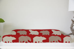 Red Bears Changing Pad Cover