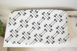 Black Arrows Changing Pad Cover, Rustic Nursery Bedding