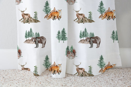 Woodland Curtain Single Panel, Forest Nursery Decor - Little Explorer