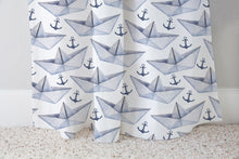 Load image into Gallery viewer, My Paper World Curtain, Nautical Nursery Decor