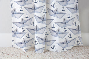 My Paper World Curtain, Nautical Nursery Decor