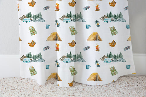 Explorer Curtain Single Panel, Camping Nursery Decor - Little Explorer
