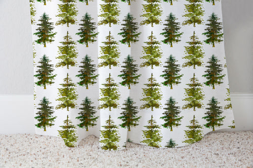 Pine Trees Curtain Single Panel, Forest Nursery Decor - Cabin Story ref9