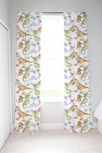 Load image into Gallery viewer, Big Friends Curtain, Dinosaurs Nursery Decor