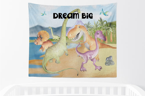 Big Friends Dino Tapestry, Dinosaurs Room Decor