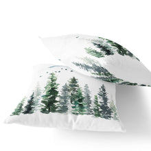 Load image into Gallery viewer, Pine Trees Pillow, Forest Nursery Decor - Enchanted Forest