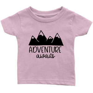 Adventure Awaits Baby Clothes, Pregnancy Reveal Baby Bodysuit