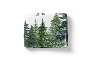 The Forest Minky Blanket, Forest Nursery Bedding
