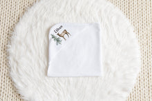 Load image into Gallery viewer, Forest Personalized Hooded Baby Towel, Woodland Baby Boy Towel - Enchanted Forest