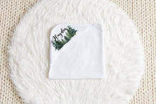 Load image into Gallery viewer, Pine Trees Personalized Hooded Baby Towel, Woodland Baby Boy Towel - The Forest