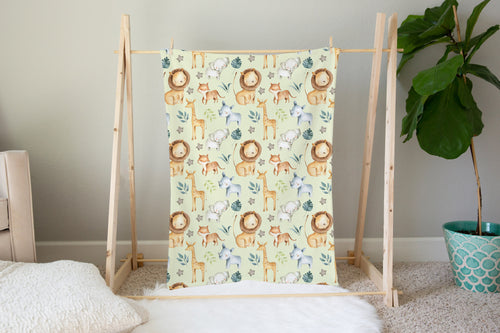 Baby Africa Minky Blanket, Safari Nursery Bedding