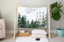 Load image into Gallery viewer, The Forest Milestone Blanket, Forest Nursery Bedding