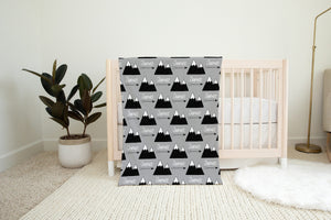 Mountains and Arrows Personalized Minky Blanket, Outdoors Nursery Bedding