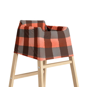 Jack Red Buffalo Plaid Car Seat Cover, Lumberjack Nursing Cover