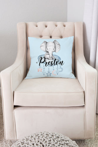 Peanut Personalized Pillow, Elephant Nursery Decor