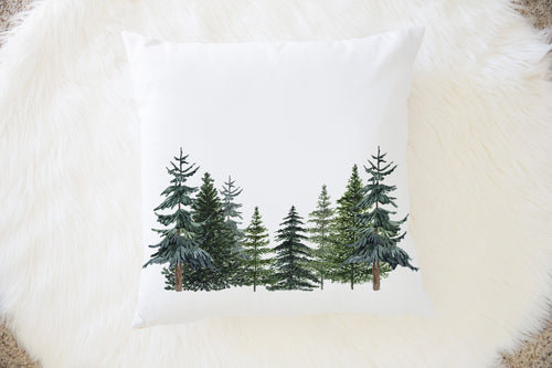 The Forest Pine Tress Pillow, Forest Nursery Decor