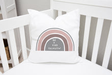 Load image into Gallery viewer, Be A Kind Rainbow Pillow, Rainbows Nursery Decor