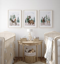 Load image into Gallery viewer, Forest Printable Wall Art, Woodland Nursery Prints Set of 3 - Enchanted Forest
