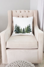 Load image into Gallery viewer, Pine Tress Pillow, Forest Nursery Decor - The Forest