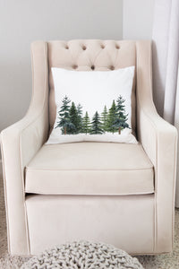 Pine Tress Pillow COVER, Forest Nursery Decor - The Forest