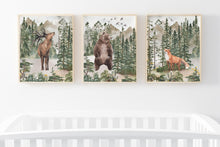 Load image into Gallery viewer, Forest Printable Wall Art, Woodland Nursery Prints Set of 3 - Forest Mist
